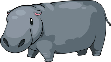 illustration Hippo vector file