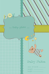 Baby Boy Arrival Card with Photo Frame and place for your text i