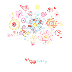Greeting Card Flower