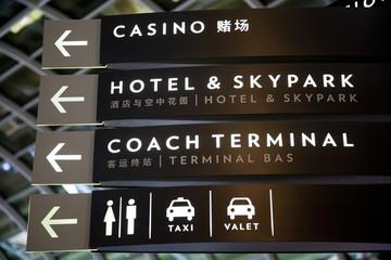 Signs in Marina Bay Shopping mall