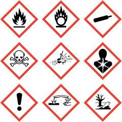 GHS Kennzeichen Set Sammlung Symbole Piktogramme