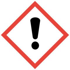 GHS Kennzeichen Achtung Warnung Warnschild Ausrufezeichen