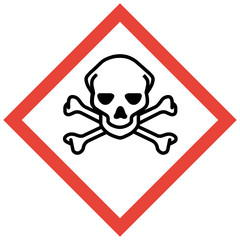 GHS Kennzeichen sehr giftig akute Toxizität Totenkopf Knochen