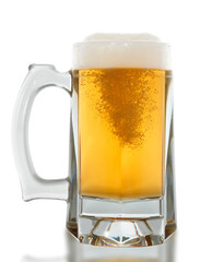 Beer glass on a white background. With Clipping Pat