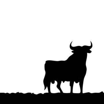 Black bull, symbol of southern Spain.