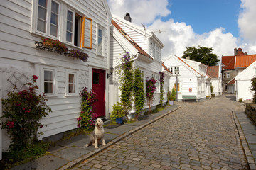 Traditional wooden houses in Stavanger, Norway
