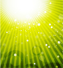 Green shiny vector background