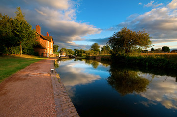 canal, towpath and locks