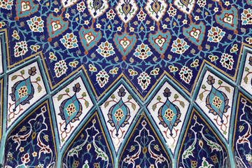 Oriental mosaic in the Grand Mosque, Muscat Oman