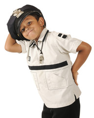 Goofy Young Policeman