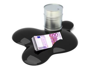 In Öl versenkte Euros