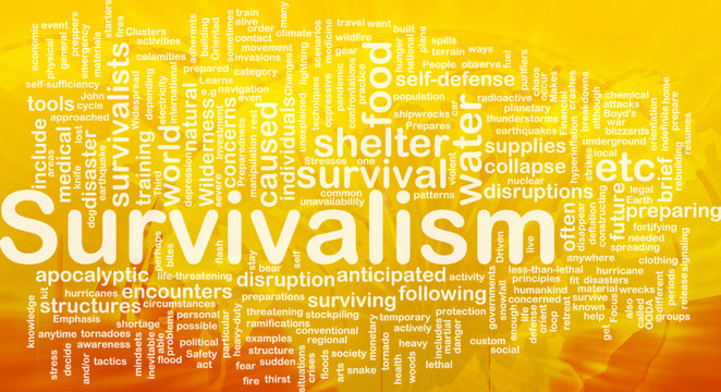 Survivalism background concept