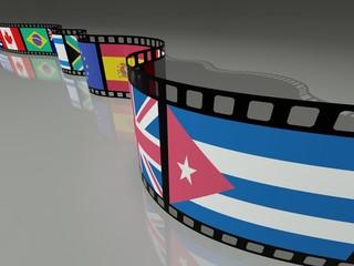 PELLICOLA FILM CON BANDIERA  CUBA
