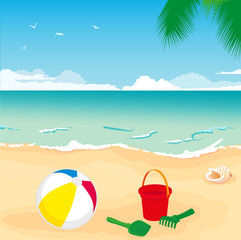 toys on sand