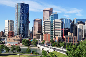 Keuken foto achterwand Rotterdam Calgary skyline