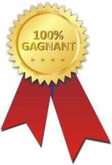 médaille 100% gagnant