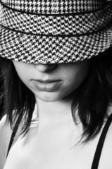 Beautiful girl in sylish hat