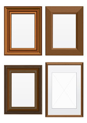 Vector illustration set of wooden frames.