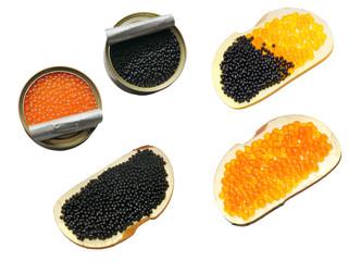 Sandwich with caviar