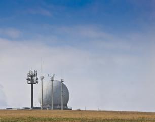 Radarkuppel Antennen auf der Wasserkuppe Rhön