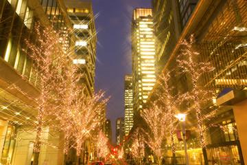 Fototapete - 丸の内のクリスマスイルミネーション