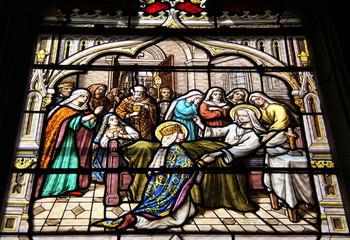 Foto op Plexiglas Stained Bourgogne - Corbigny : Eglise Saint-Seine