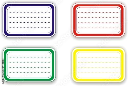 """Bien-aimé étiquettes scolaires"""" fichier vectoriel libre de droits sur la  AW29"""