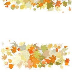 Autumn design with leafs. EPS 8
