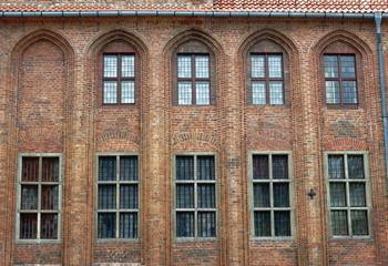 okna gotyckigo ratusza, Toruń, Polska