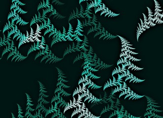 Green drawn trees - wallpaper