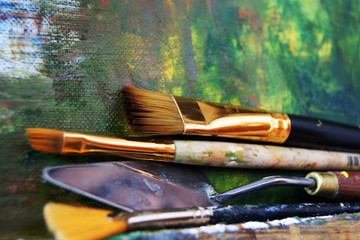 Brushes in use