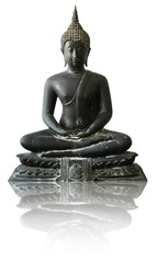 Isolated Image of Buddha in Thai Style