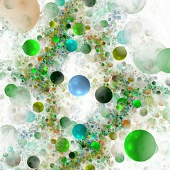 background from multi-colored full-spheres