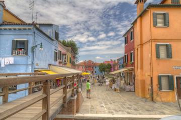 Burano island, colored houses,Italy