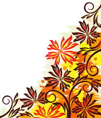 Colorful autumn design with grunge effects