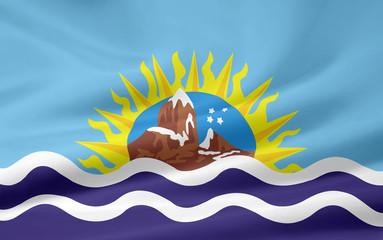 Flagge der Provinz Santa Cruz - Argentinien