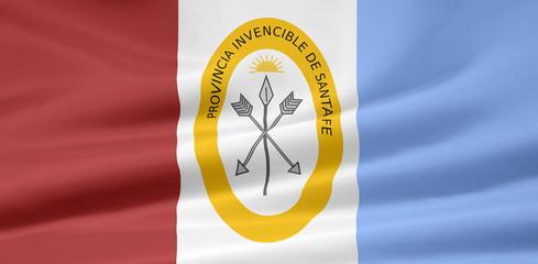 Flagge der Provinz Santa Fe - Argentinien
