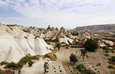 Aerial view of Cappadocia terrain