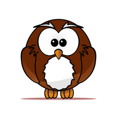 Image of vector illustration of owl