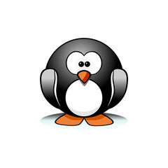 Editable vector of cartoon penguin isolated on white background
