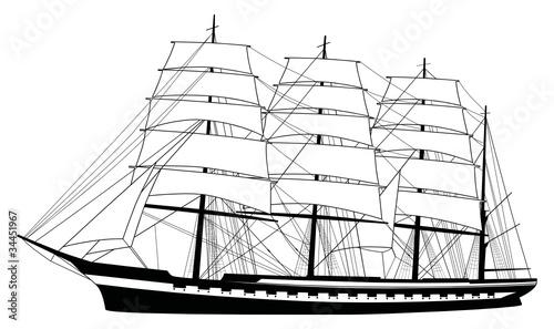 """""""segelschiff silhouette segelboot"""" stockfotos und"""