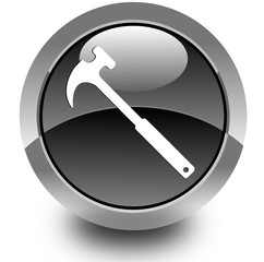 Hammer glossy icon