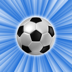 3d rendering of a football with light.