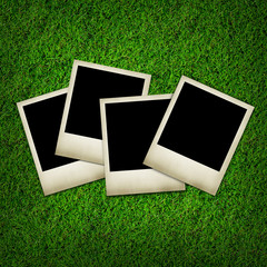 photos isolated on green grass background