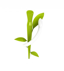 Äskulapstab / Hermesstab als Symbol für alternative Medizin