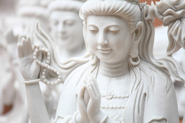 Guan Yin  white marble carving