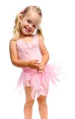 smiling happy ballet girl