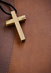 Wooden Cross on Bible