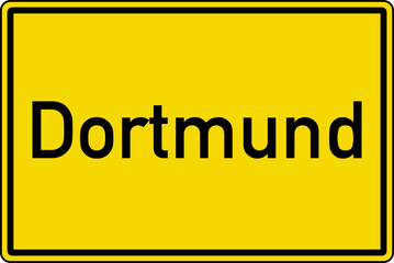 Dortmund Ortstafel Ortseingang Schild Verkehrszeichen
