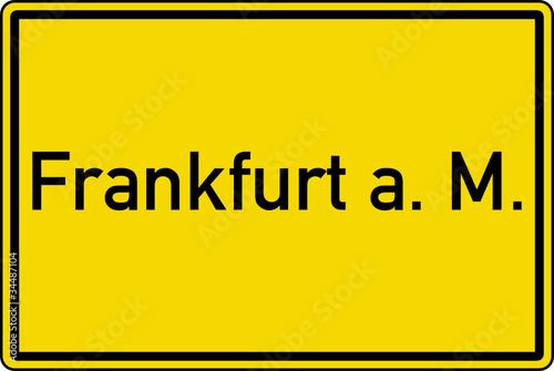 frankfurt am main ortstafel ortseingang schild stockfotos und lizenzfreie vektoren auf fotolia. Black Bedroom Furniture Sets. Home Design Ideas